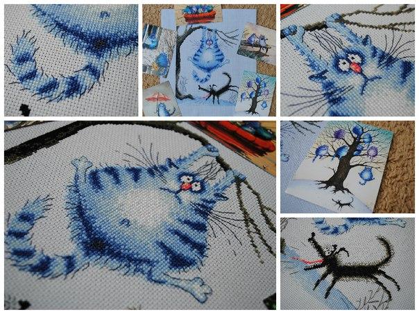 Коты вышивка марья искусница