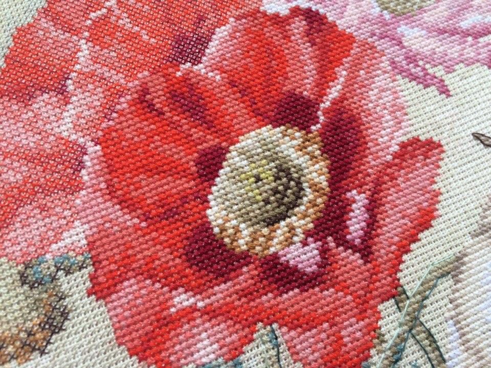 Вышивка цветы марья искусница