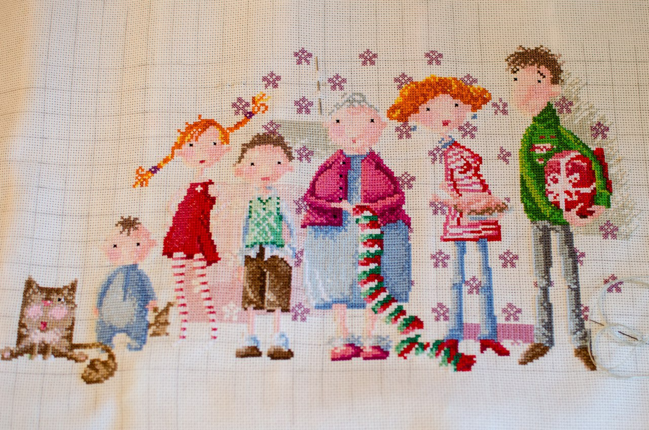 Набор для вышивки семья