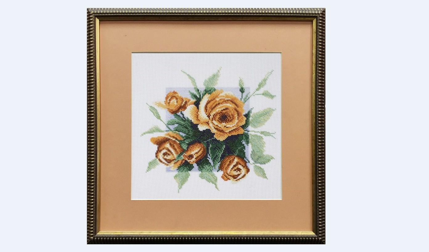 Вышивка чайные розы схема 63